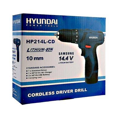 دریل پیچ گوشتی شارژی هیوندای مدل HP214L-CD