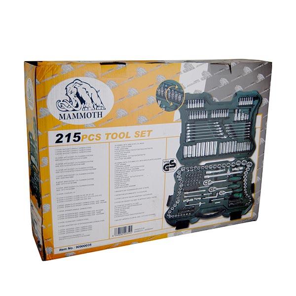جعبه بکس و سری پیچ گوشتی ۲۱۵ پارچه ماموت